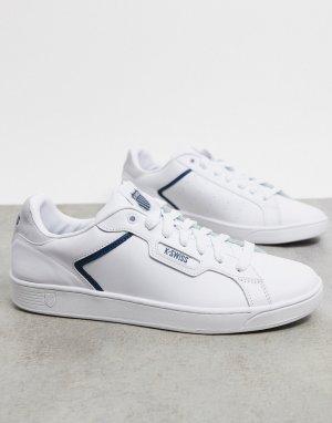Бело-синие кроссовки Clean court II CMF-Белый K-Swiss