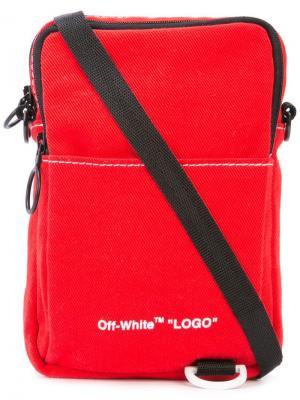 Сумка через плечо с логотипом Off-White. Цвет: красный