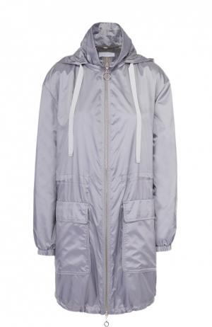 Удлиненная ветровка на молнии с накладными карманами Escada Sport. Цвет: серый