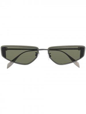 Солнцезащитные очки в квадратной оправе Alexander McQueen Eyewear. Цвет: черный