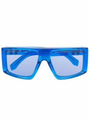 Солнцезащитные очки Alps Off-White. Цвет: синий