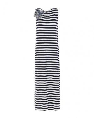 Длинное платье 1-ONE. Цвет: темно-синий