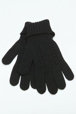Перчатки вязаные Roberto Cavalli. Цвет: черный
