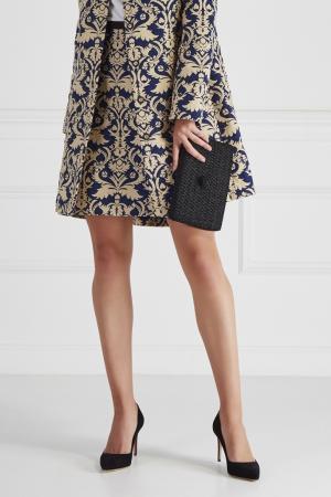 Жаккардовая юбка HOSS INTROPIA. Цвет: синий
