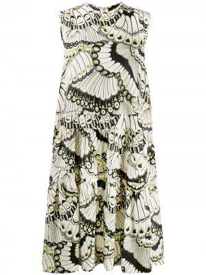 Платье без рукавов с принтом Rochas. Цвет: нейтральные цвета
