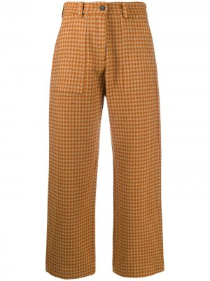 Cropped houndstooth-print trousers Massimo Alba. Цвет: нейтральные цвета