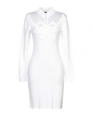 Короткое платье LÉO GUY. Цвет: слоновая кость