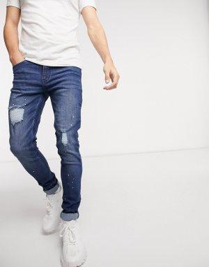 Темно-голубые облегающие джинсы Harrow-Голубой Criminal Damage