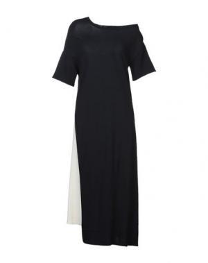 Платье длиной 3/4 LIVIANA CONTI. Цвет: темно-синий