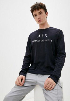 Лонгслив Armani Exchange. Цвет: синий