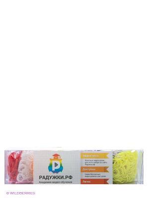 Большой комплект дополнительных резиночек №4 (7 цветов, 2100 шт.) Радужки