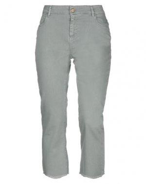 Джинсовые брюки-капри ESSENTIEL ANTWERP. Цвет: зеленый-милитари