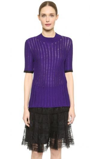 Пуловер с коротким рукавом Nina Ricci. Цвет: голубой
