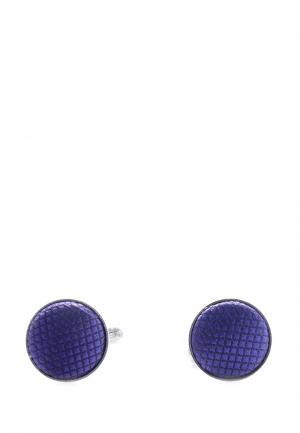 Запонки Churchill accessories MP002XM0W73G. Цвет: серебряный, синий