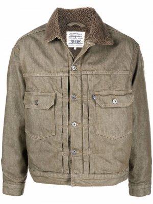 Levis: Made & Crafted джинсовая куртка с подкладкой из шерпы Levi's:. Цвет: зеленый