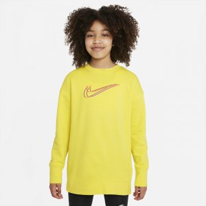 Толстовка для девочек школьного возраста Sportswear - Желтый Nike