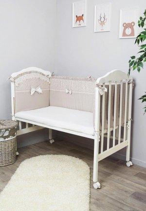 Бортик для детской кровати Сонный Гномик Версаль. Цвет: бежевый