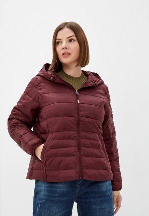 Куртка утепленная Vero Moda Curve. Цвет: бордовый