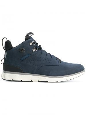 Ботинки со шнуровкой Timberland. Цвет: синий