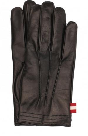 Кожаные перчатки Bally. Цвет: черный