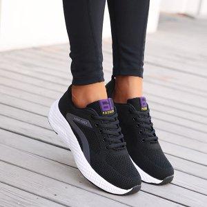 Дышащая беговая обувь с текстовым принтом со шнурком SHEIN. Цвет: чёрный