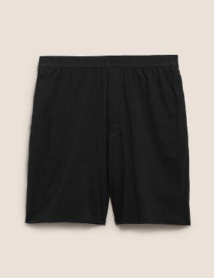 Мягкие пижамные шорты из хлопка премиум-класса Autograph. Цвет: черный