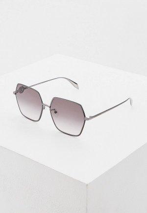 Очки солнцезащитные Alexander McQueen AM0226SK 001. Цвет: серый