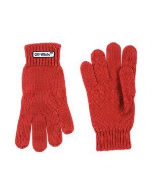 Перчатки OFF-WHITE™. Цвет: красный