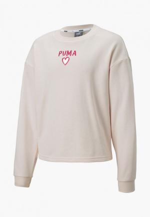 Свитшот PUMA Alpha Crew Sweat G. Цвет: бежевый