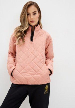 Куртка утепленная Vans WM QUILTED V MOCK. Цвет: розовый