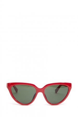 Солнцезащитные очки в красной оправе кошачий глаз Balenciaga. Цвет: красный