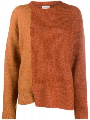 Long-sleeve block colour knitted jumper By Malene Birger. Цвет: коричневый