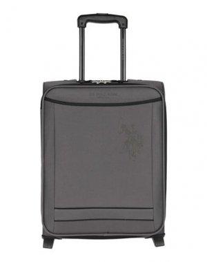 Чемодан/сумка на колесиках U.S.POLO ASSN.. Цвет: стальной серый