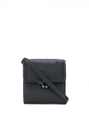 Маленький кошелек с ремнем на плечо Discord Yohji Yamamoto. Цвет: черный