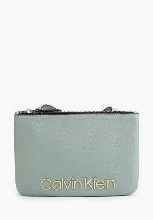Сумка Calvin Klein Jeans. Цвет: зеленый