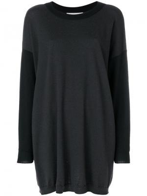 Вязаный свитер оверсайз JC de Castelbajac Pre-Owned. Цвет: черный