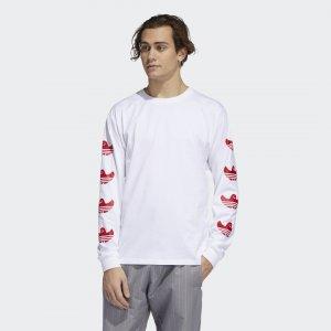 Лонгслив Shmoo Originals adidas. Цвет: белый