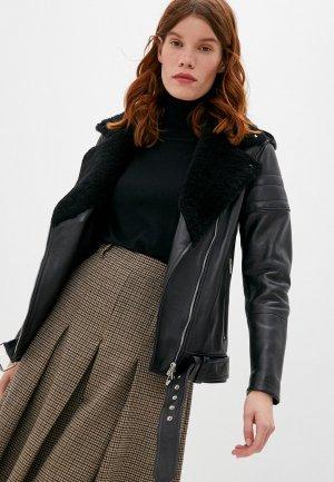 Куртка кожаная Blouson SALLY. Цвет: черный