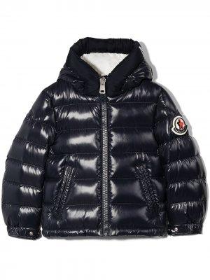 Salzman hood puffer jacket Moncler Enfant. Цвет: синий