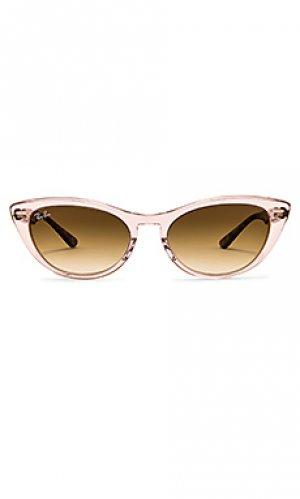 Солнцезащитные очки icon cat eye Ray-Ban. Цвет: brown,pink
