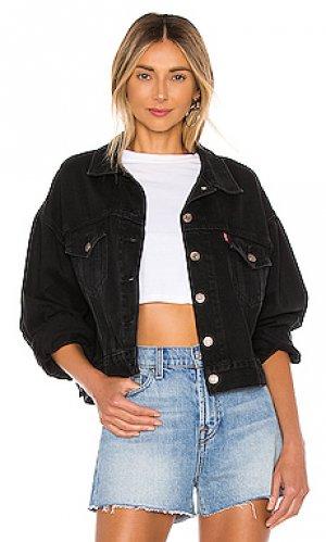 Джинсовая куртка pleat sleeve LEVIS LEVI'S. Цвет: none