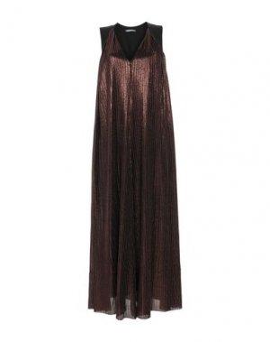 Длинное платье BRIAN DALES. Цвет: бронзовый