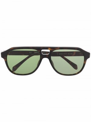 Солнцезащитные очки-авиаторы черепаховой расцветки Zadig&Voltaire. Цвет: черный