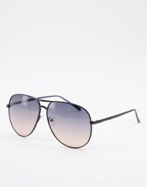 Солнцезащитные очки-авиаторы -Черный цвет Jeepers Peepers