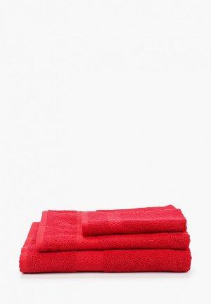 Набор полотенец HappyFox. Цвет: красный