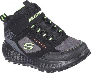 Кроссовки высокие для мальчиков Monster, размер 34.5 Skechers. Цвет: черный