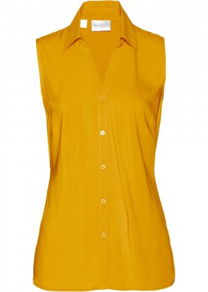 Блузка без рукавов bonprix. Цвет: корич-невый