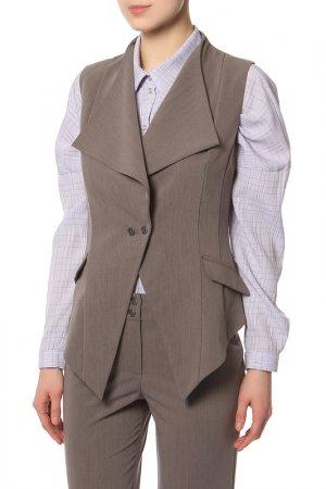 Костюм: жилет, брюки Adzhedo. Цвет: серо-коричневый