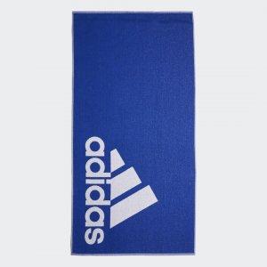 Полотенце Large Performance adidas. Цвет: синий