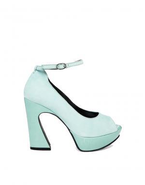 Кожаные туфли на каблуке с открытым носком Gardenia. Цвет: cipro 6317